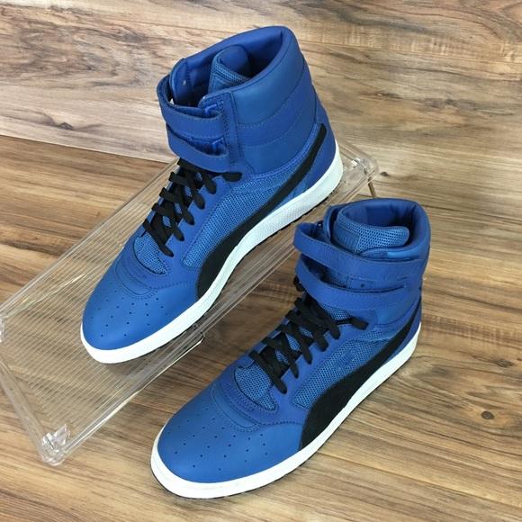 2154a830fe PUMA Sky II Hi Color Blocked Leather Sneaker Blue